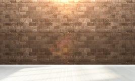 Intérieur vide 3d rendent Photographie stock libre de droits