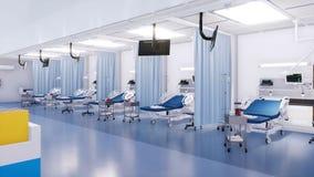 Intérieur vide de chambre de secours dans un hôpital moderne banque de vidéos