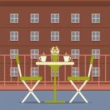 Intérieur vide de dîner au balcon Photo libre de droits