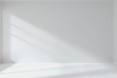 Intérieur vide de mur de pièce blanche illustration libre de droits