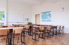 Intérieur vide de salle de classe Photos libres de droits