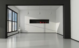 Intérieur vide minimaliste Images stock