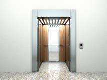 Intérieur vide réaliste de hall d'ascenseur avec du marbre de attente d'ascenseur illustration de vecteur