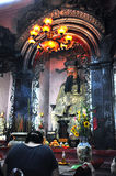 Intérieur vietnamien de pagoda Photo stock
