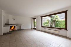 Intérieurs d'appartement meublé moderne, salon images stock