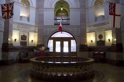 Intérieurs de bâtiments du Parlement de Colombie-Britannique Photos stock