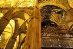 Intérieurs de cathédrale image libre de droits