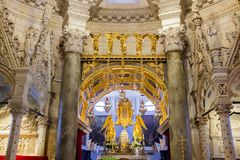Intérieurs de cathédrale de Domnius de saint dans la fente, Croatie Photographie stock libre de droits