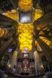 Intérieurs de cathédrale de Séville image libre de droits
