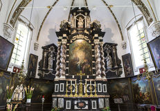 Intérieurs de chrurch d'Anne de sainte, Bruges, Belgique Photographie stock libre de droits