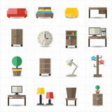 Intérieurs de meubles de maison et de bureau Photo stock