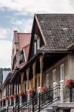Intérieurs de petite ville et dehors en Pologne Photos libres de droits