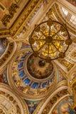 Intérieurs de St Isaac Cathedral Photographie stock libre de droits
