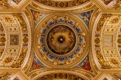 Intérieurs de St Isaac Cathedral Photo stock