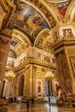 Intérieurs de St Isaac Cathedral Images stock