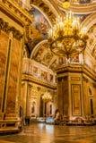 Intérieurs de St Isaac Cathedral Photos libres de droits
