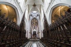 Intérieurs des d'Anvers cathédrale, Anvers, Belgique de Notre Dame photographie stock