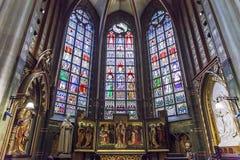 Intérieurs des d'Anvers cathédrale, Anvers, Belgique de Notre Dame photos libres de droits