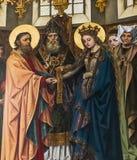 Intérieurs des d'Anvers cathédrale, Anvers, Belgique de Notre Dame photo libre de droits