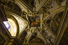 Intérieurs des salles de Raphael, musée de Vatican, Vatican Photographie stock libre de droits