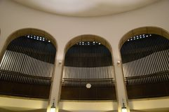 4 intérieurs l'organe l'église de mosquée, Pecs, Hongrie photo stock