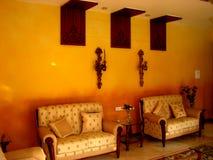 Intérieurs oranges Images libres de droits