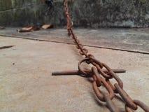 Intérpretes chain de aço fotografia de stock