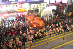 Hong Kong :Intl Chinese New Year Night Parade 2012 Stock Photo