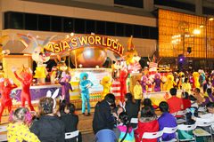Int'l chinesische neues Jahr-Nachtparade 2011 Stockbild