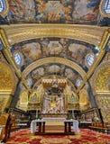 Int?rieur de Co-cath?drale du ` s de St John, La Valette, Malte images libres de droits