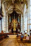 Int?rieur de l'?glise romane de St Michael du 13?me si?cle dans Zwolle photographie stock libre de droits
