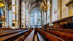 Int?rieur de l'?glise romane de St Michael du 13?me si?cle dans Zwolle photo libre de droits