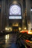Int?rieur de Notre Dame photo libre de droits