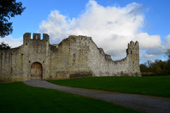 Intact Outerwall for Desmond Castle Ruins in Ireland Royalty Free Stock Photography