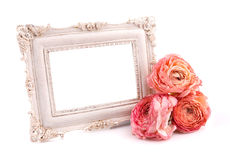 Intage frame with rose Stock Image