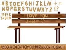 Intagliato sulla fonte tipografica di legno   illustrazione vettoriale