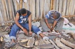 Intagliatore del legno masai Immagine Stock Libera da Diritti