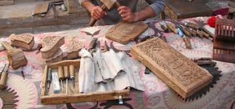 Intaglio del legno tradizionale Fotografia Stock Libera da Diritti