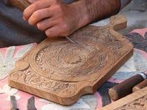 Intaglio del legno tradizionale Immagini Stock Libere da Diritti