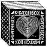 Intaglio in legno nero della scatola di fiammiferi Fotografia Stock Libera da Diritti