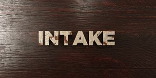 Intake - grungy wooden headline on Maple  - 3D rendered royalty free stock image Stock Photography