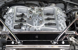 Intake manifold of a high performance engine. Intake manifold of a modern high performance internal combustion engine Stock Photos