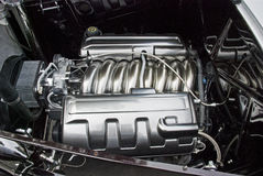 Intake manifold of a high performance engine. Intake manifold of a high performance automobile engine Stock Photo