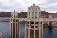 Intake Tower on The Hoover Dam in USA Royalty Free Stock Photos