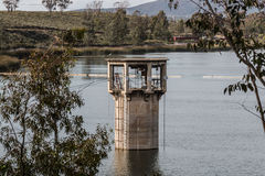 Intake Tower for Lower Otay Reservoir in Chula Vista, California Stock Photography