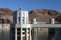 Intake towers at Hoover Dam Stock Photos