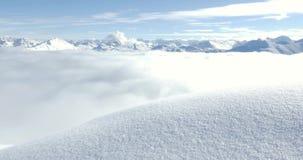 Intakt snöspår 4k arkivfilmer