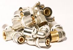 Intallation fittings stock images