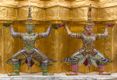 Intarachit and Solar Statue. Statue of characters from Ramayana epic, Intarachit and Solar Royalty Free Stock Image