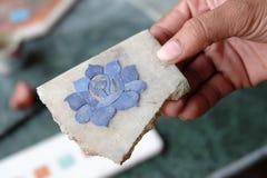 Intarsio di marmo a Agra Fotografie Stock Libere da Diritti